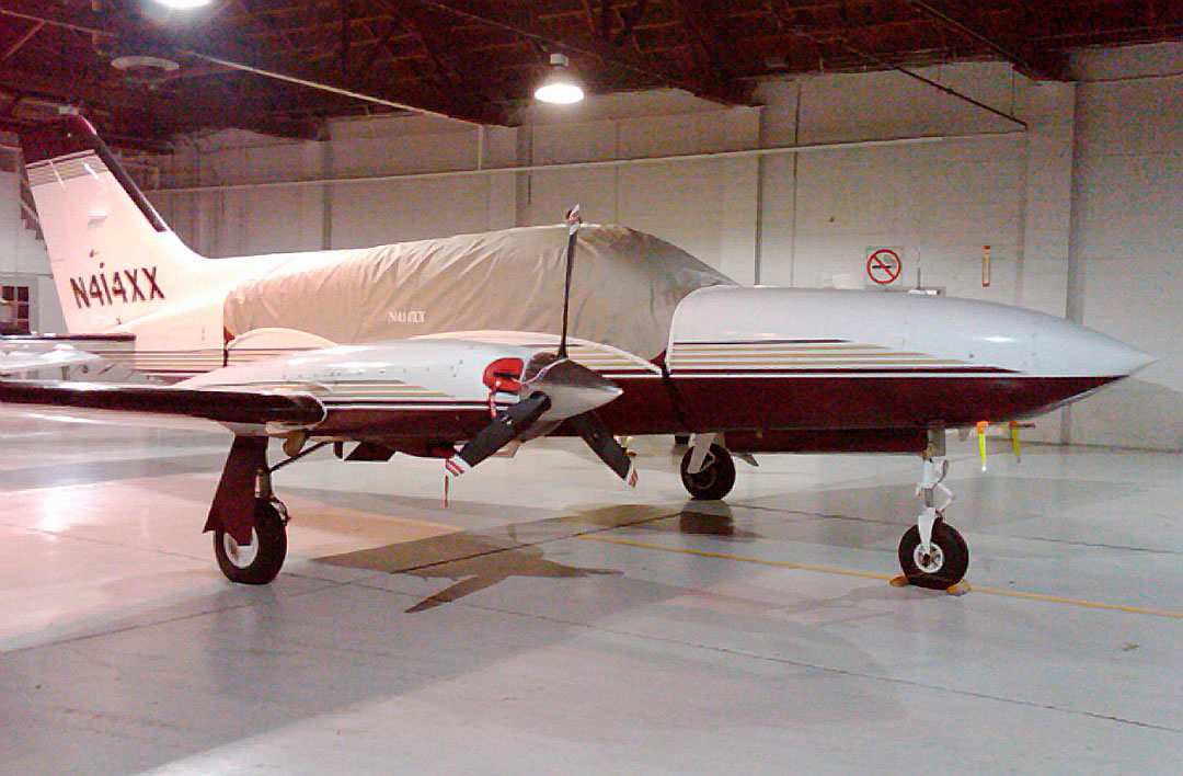 Standard Canopy Cover and Engine Inlet Plugs (Cessna 414 Shown)