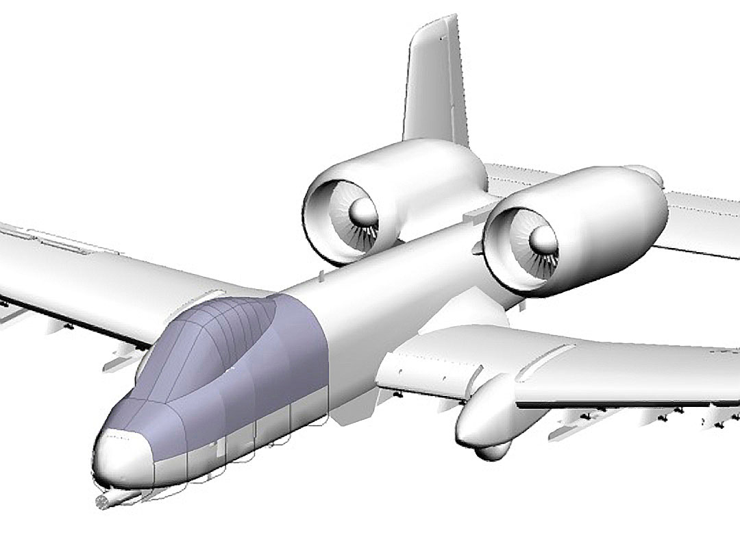A10 Thunderbolt Canopy Cover, 3D model