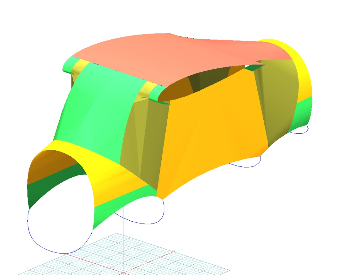 Aermacchi AM-3 Bosbok Canopy Cover (3D Model)