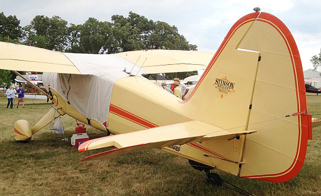 Stinson Reliant Over-the-top Canopy Cover