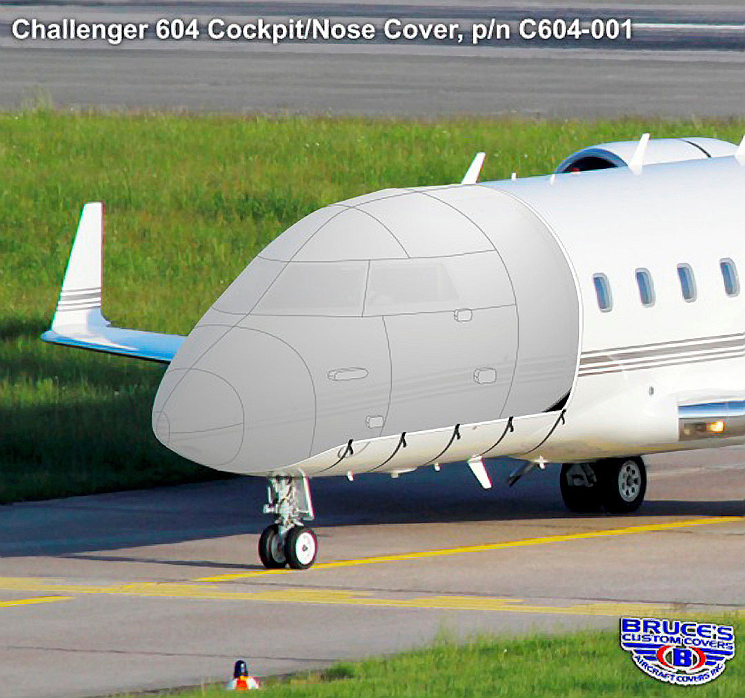 Challenger 601/604 Cockpit/Nose Cover, illustration