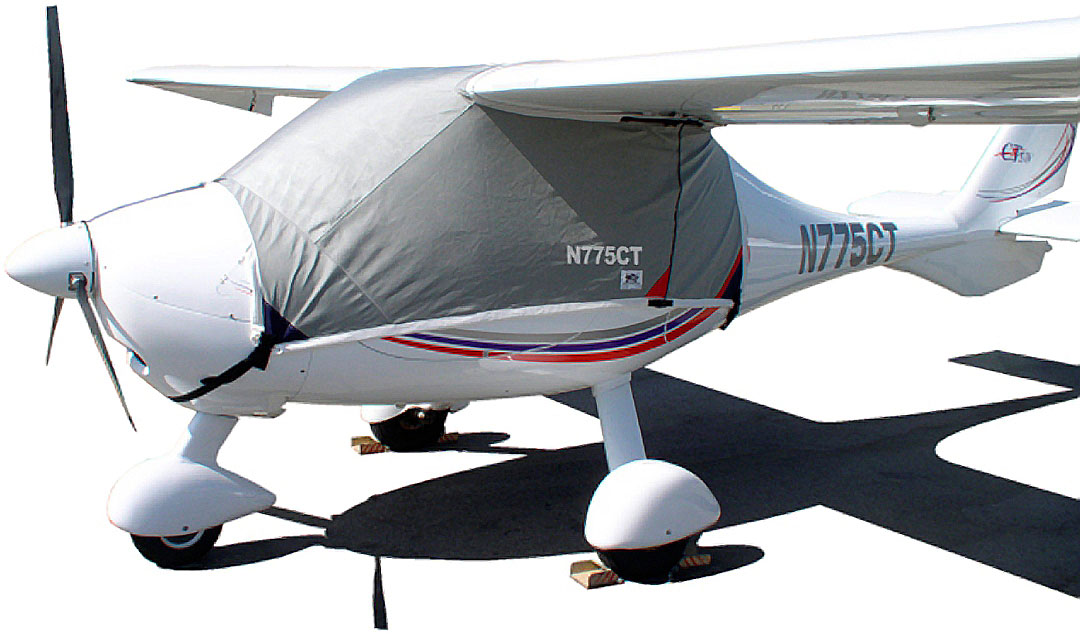 C-42, similar Flight Design CT Canopy Cover shown