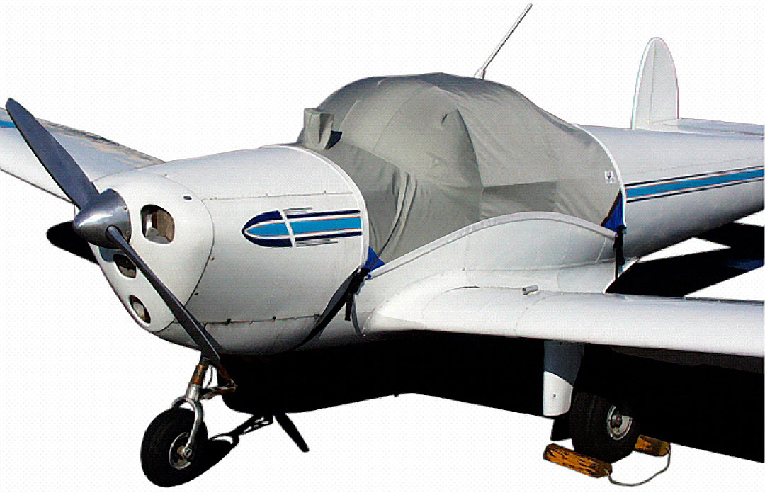 Ercoupe Canopy Cover, bubble windshield model