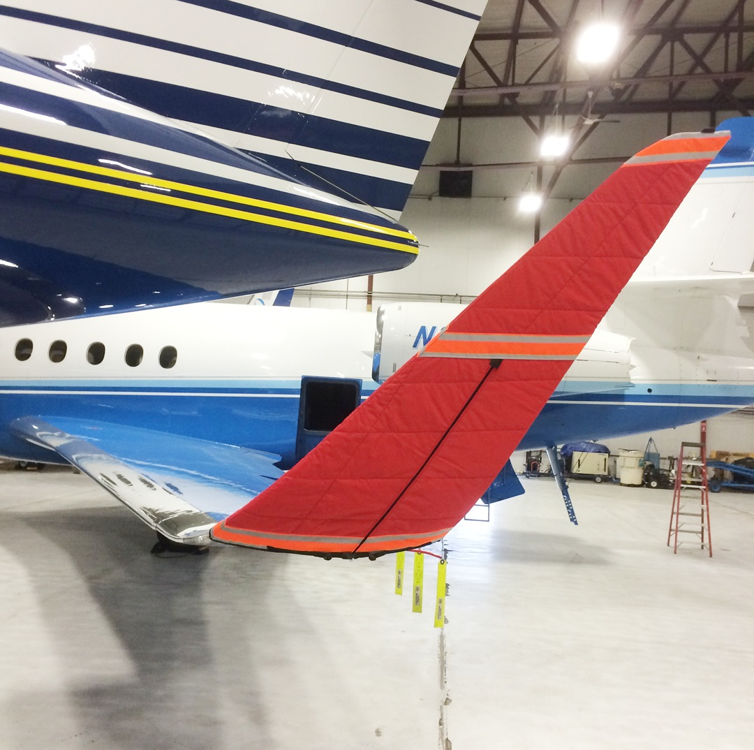 Winglet Pad, shown on Falcon 2000