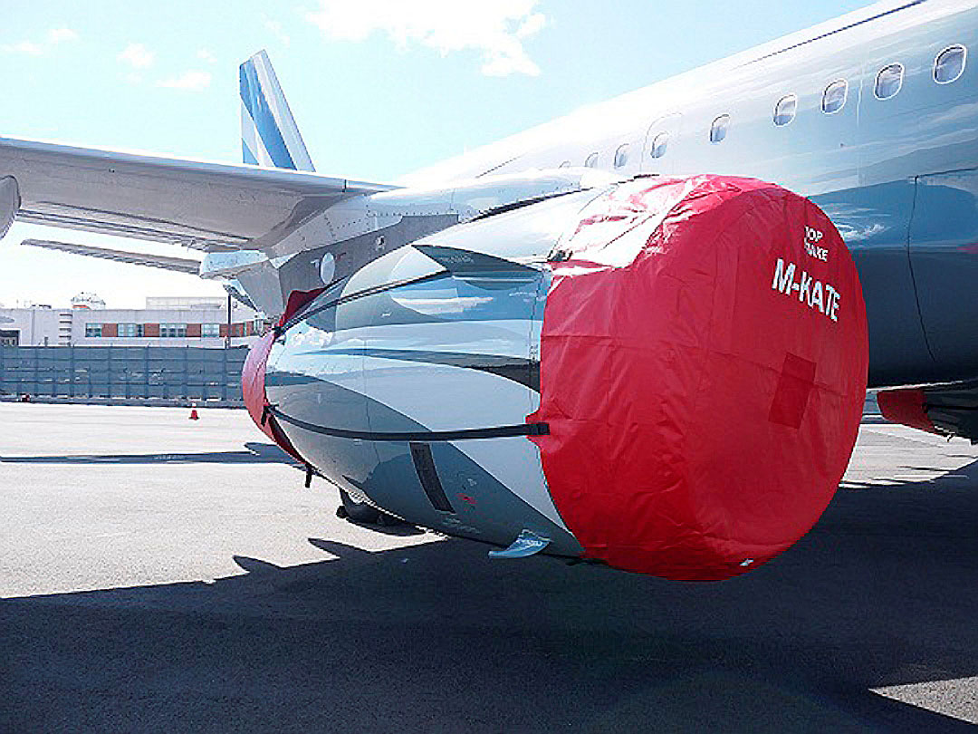 Airbus A319 Intake/Exhaust Covers set, IAE V2500 engine shown