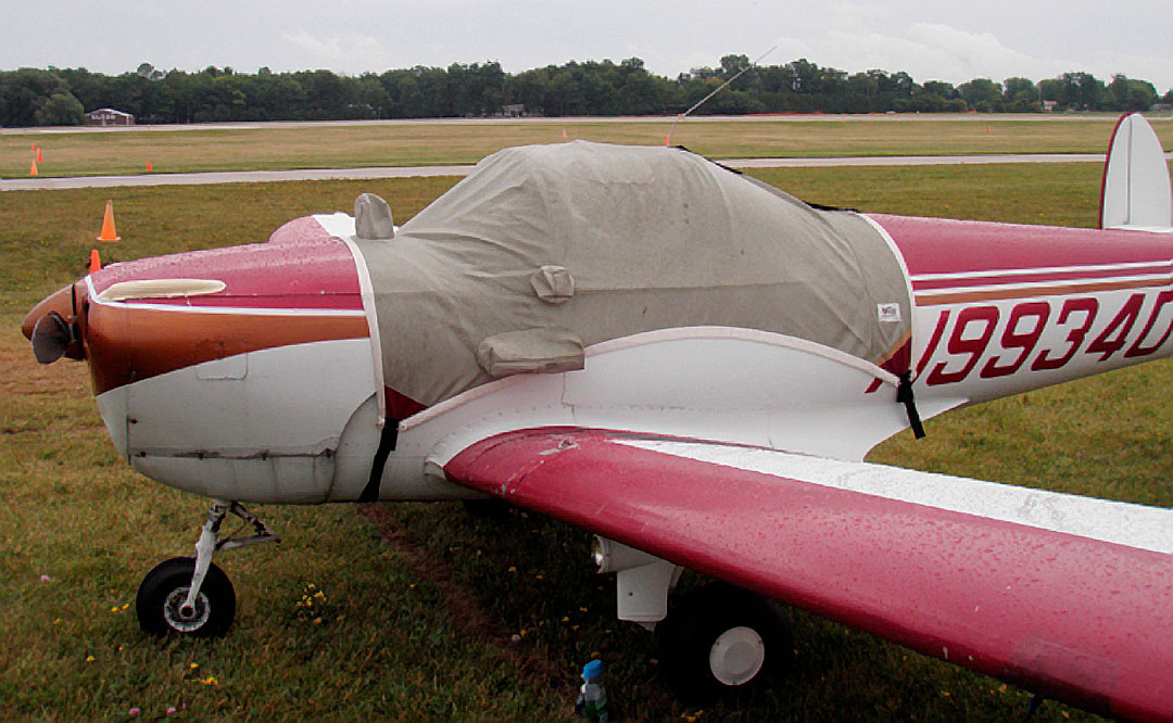 Ercoupe Canopy Cover, flat windshield model