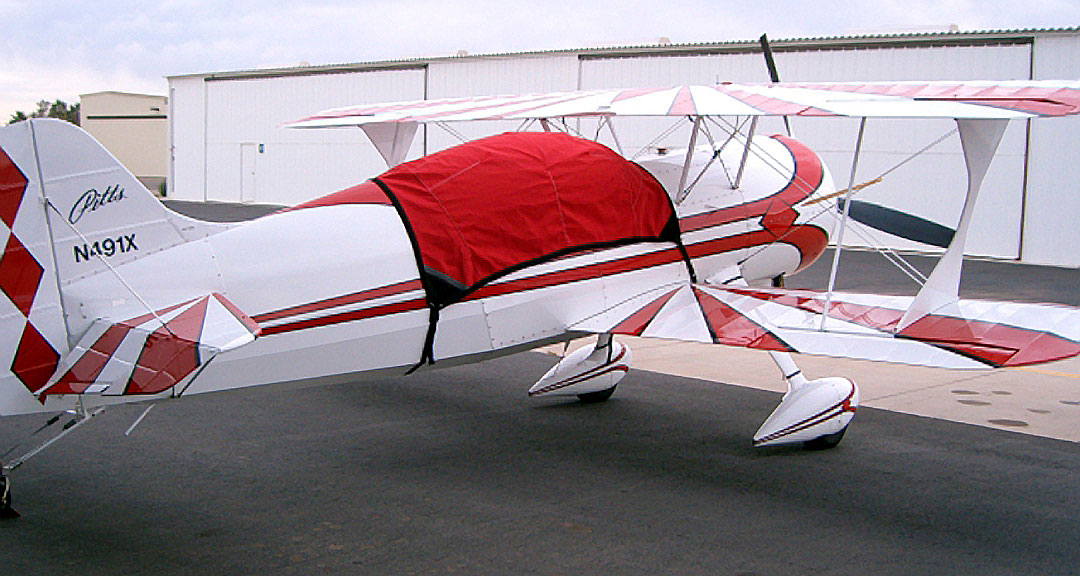 Pitts Model 12 Canopy Cover, available in colors