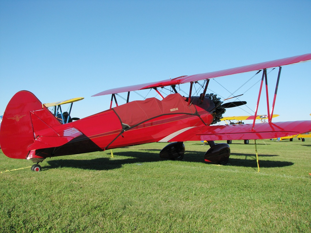Boeing Stearman PT-13 Canopy Cover (std. color is silver)
