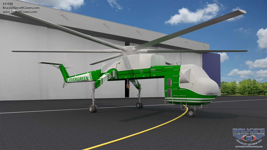 Sikorsky S-64 Canopy/Nose, Engine Area, Blade, Rotor, Tail Rotor Covers (illustration)