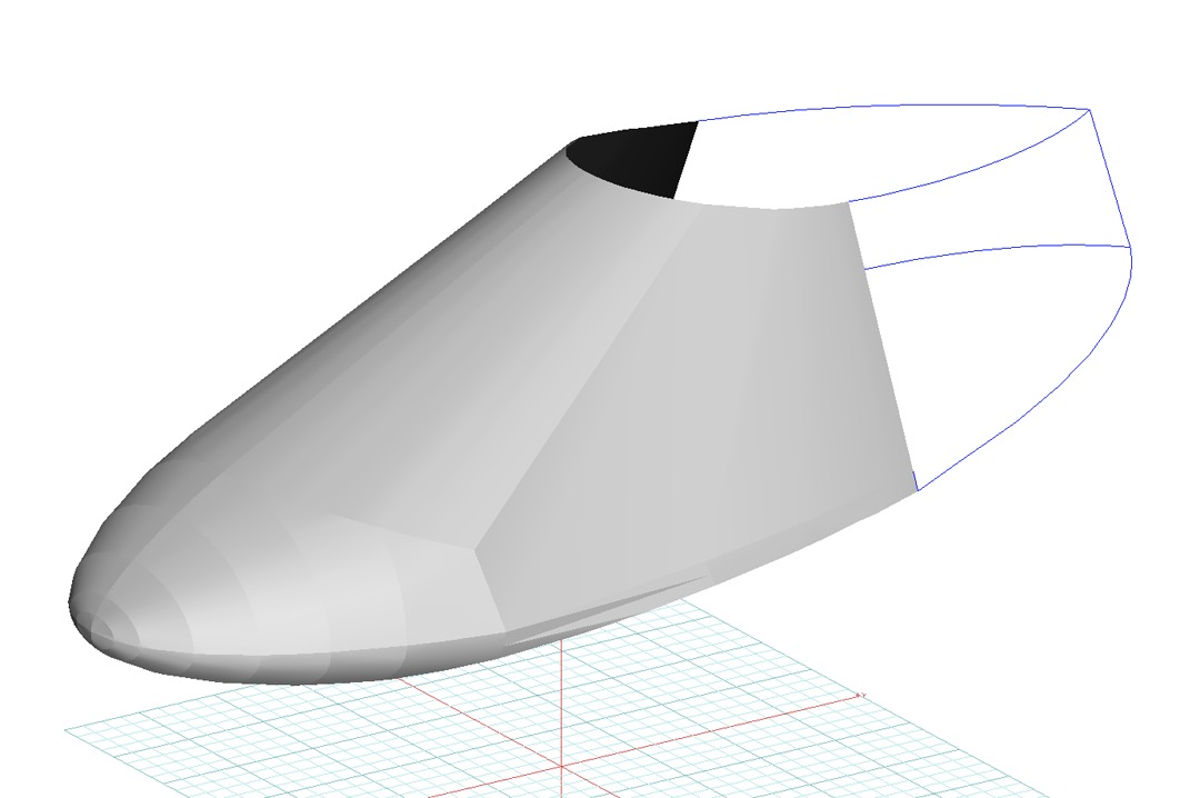 Interplane Skyboy Canopy/Nose Cover, 3D model