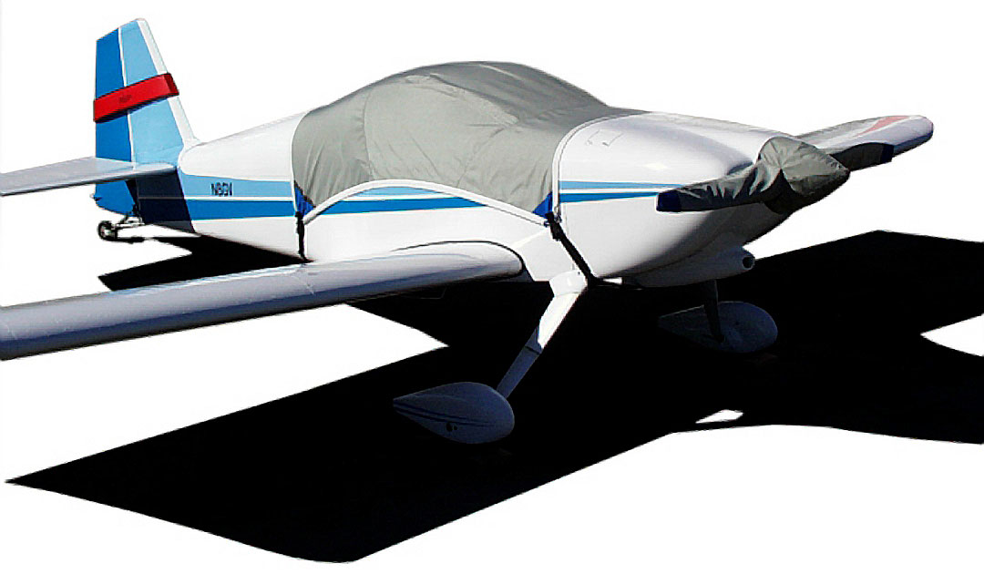 Canopy Cover, Prop Cover & Rudder Gust Lock (RV-6 shown)