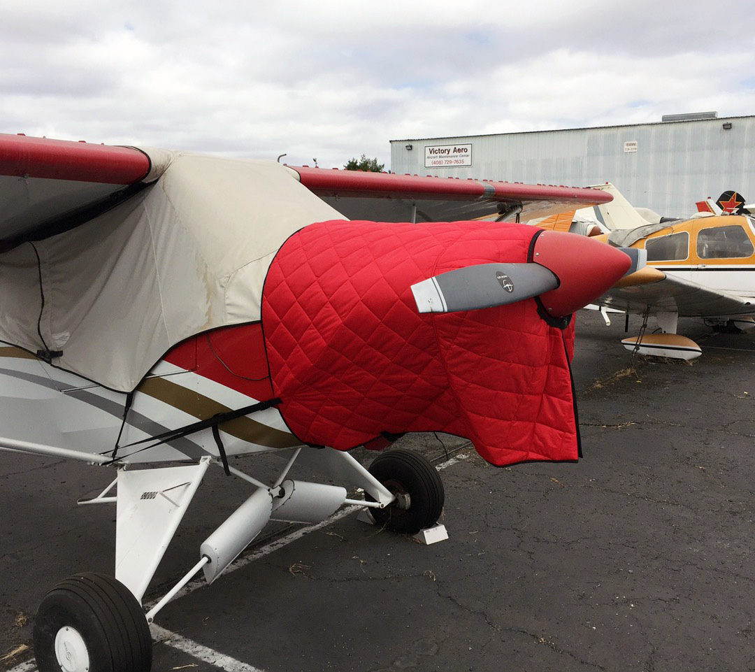 FOR INTERIOR USE. Cubcrafters CC-11 Insulated Hangar Blanket, available in Red or Silver