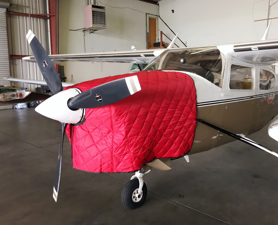 FOR INTERIOR USE. Cessna 210 Insulated Hangar Blanket, available in Red or Silver