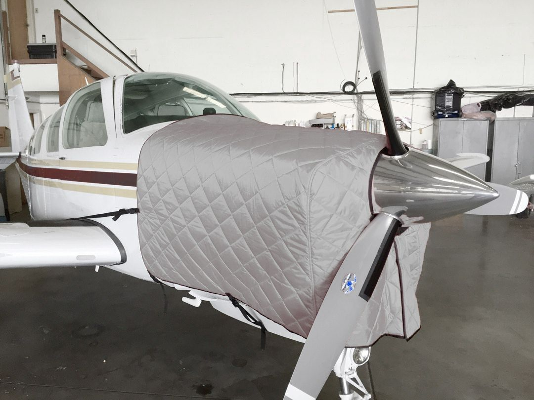 FOR INTERIOR USE. Beech Bonanza Insulated Hangar Blanket, available in Red or Silver