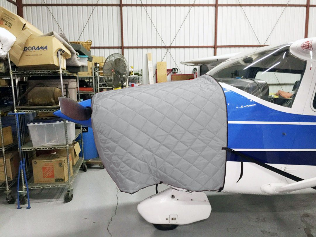FOR INTERIOR USE. Cessna 182 Insulated Hangar Blanket, available in Red or Silver