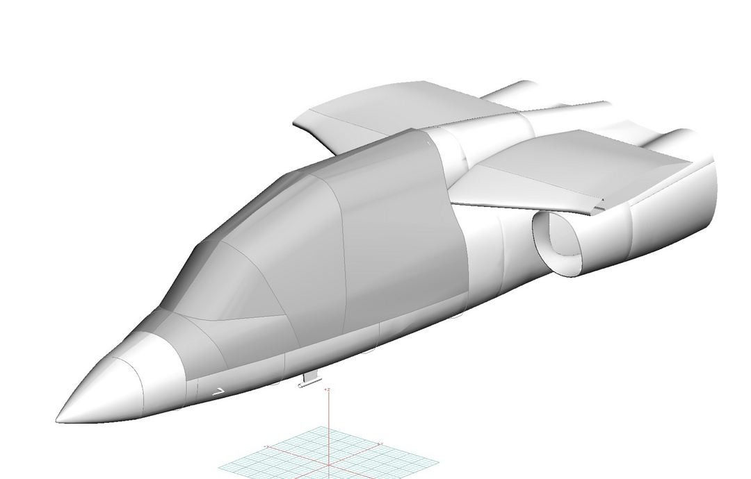 Cessna Scorpion Canopy Cover, 3D model