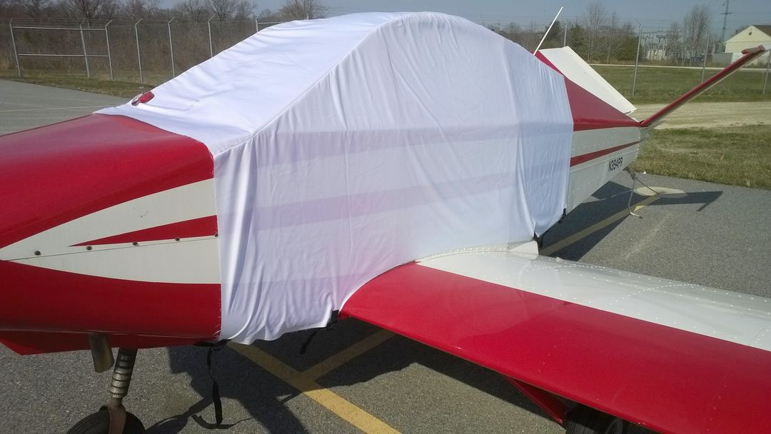 Davis DA-2A Extended Canopy Cover, test fit cover