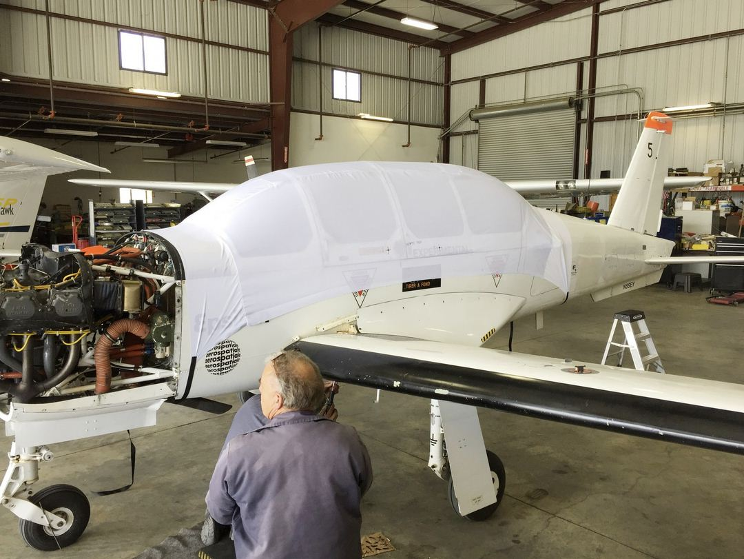 Socata TB30 Epsilon Canopy Cover, test fit cover