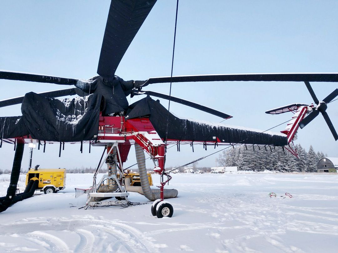 Sikorsky S-64 Skycrane, CH-54 Tarhe Insulated Engine, Rotor Hub, Tailboom, Stabilizer & Tail Rotor Covers