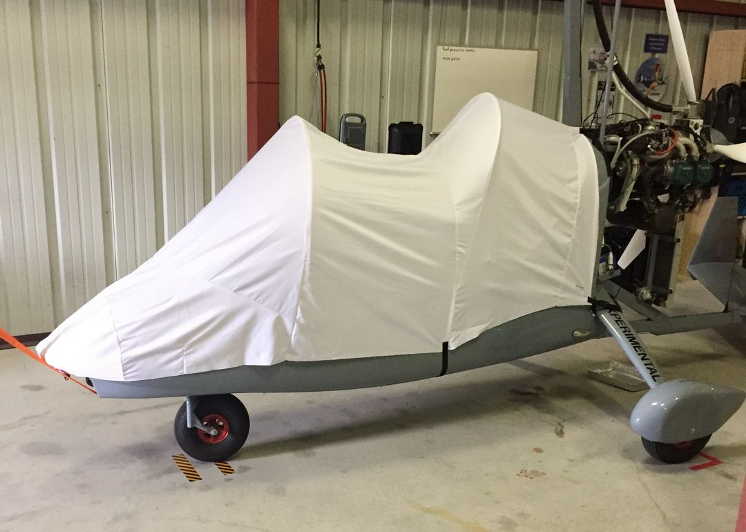 Magni M16 Autogyro Canopy/Nose Cover, test fit cover