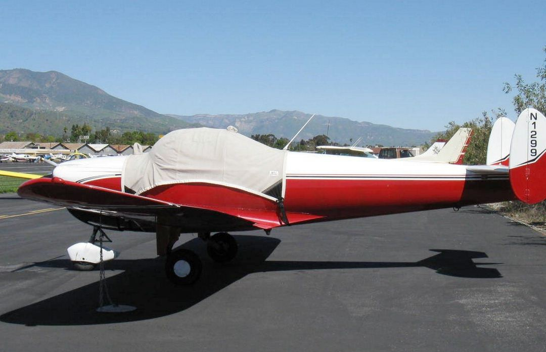 Ercoupe Canopy Cover, bubble windshield