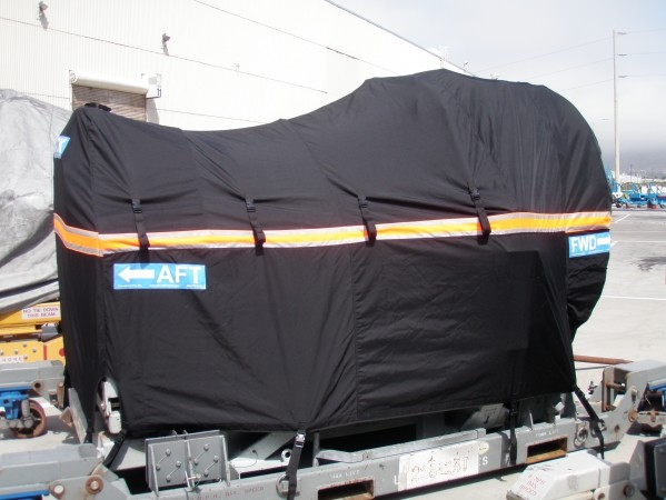 'Rain Cap' style off-link engine cover (IAE V2500 shown):